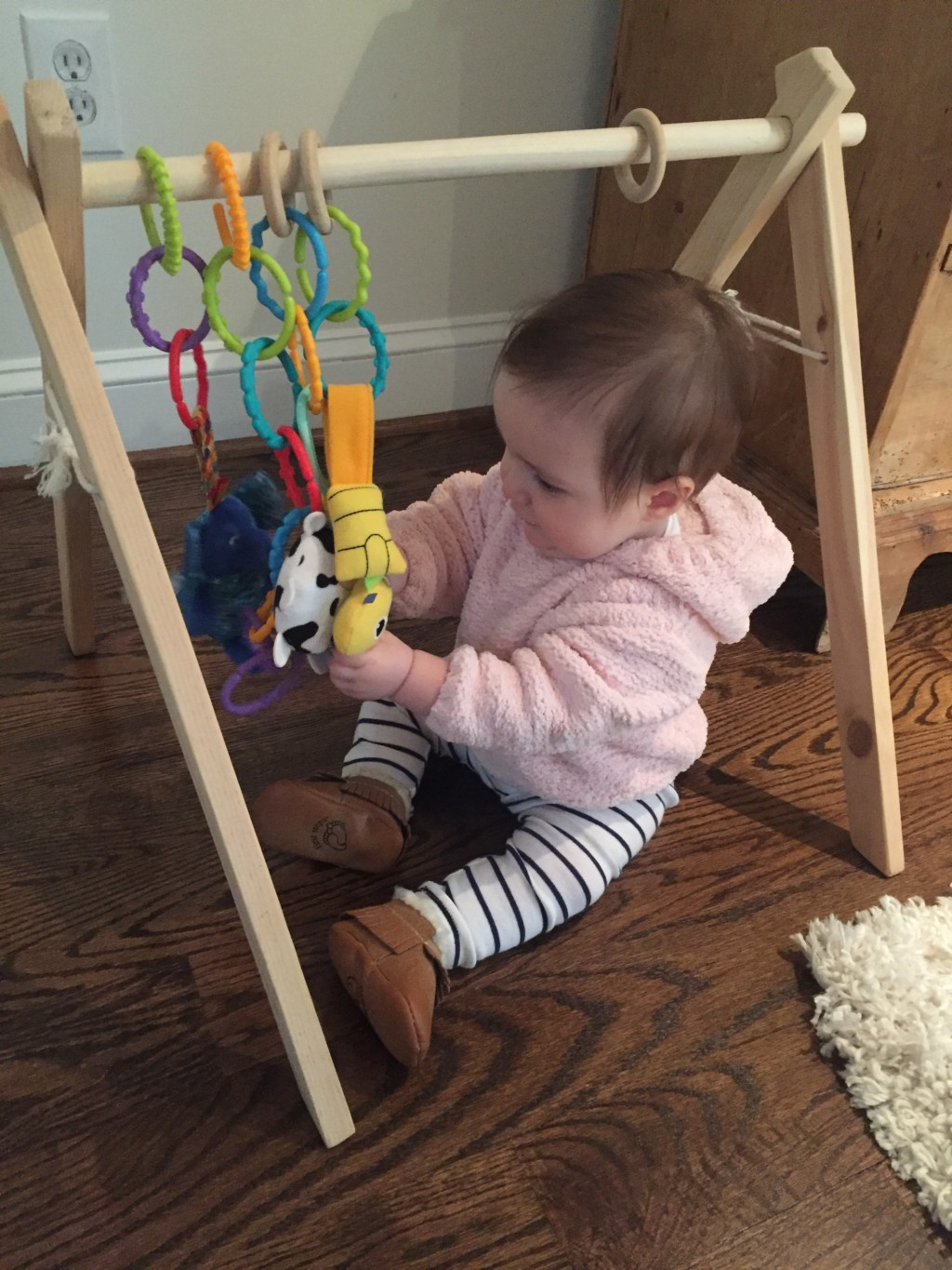 Baby Gear for Small Spaces - Wooden Play Gym