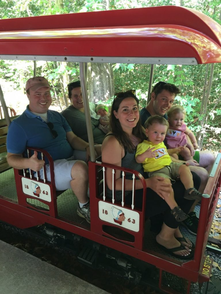 Family on Burke Lake Park Miniature Train