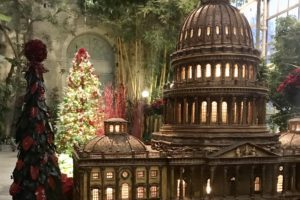 With whimsical displays and trains galore, the U.S. Botanic Gardens should be top on your holiday bucket list. Photo: Allison Winter
