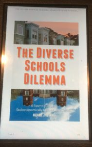 Photo of Diverse School Dilemma cover on a Kindle
