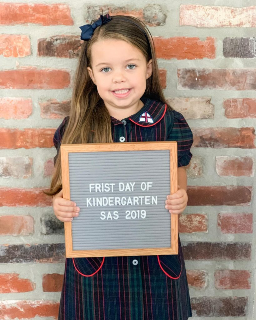 letter board back to school sign