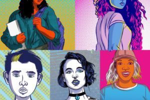 Photo: Graphic Novel Characters based on Teen Survivors of Trafficking Who Worked with Andrea to create survivor-based comics for @Unitas_Official  Art by Dan Goldman.