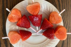 fruit heart kabobs