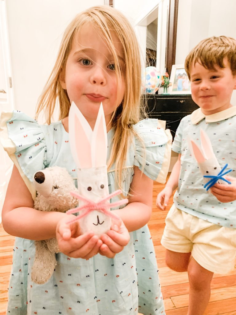 Easter bunny craft with toilet paper roll is silly.