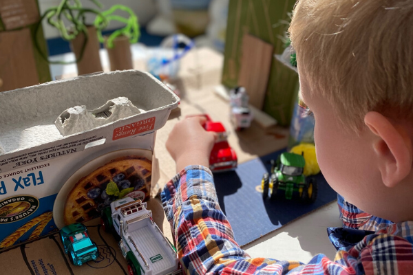Kids Craft Idea: How to Build a Cardboard City from Recyclables