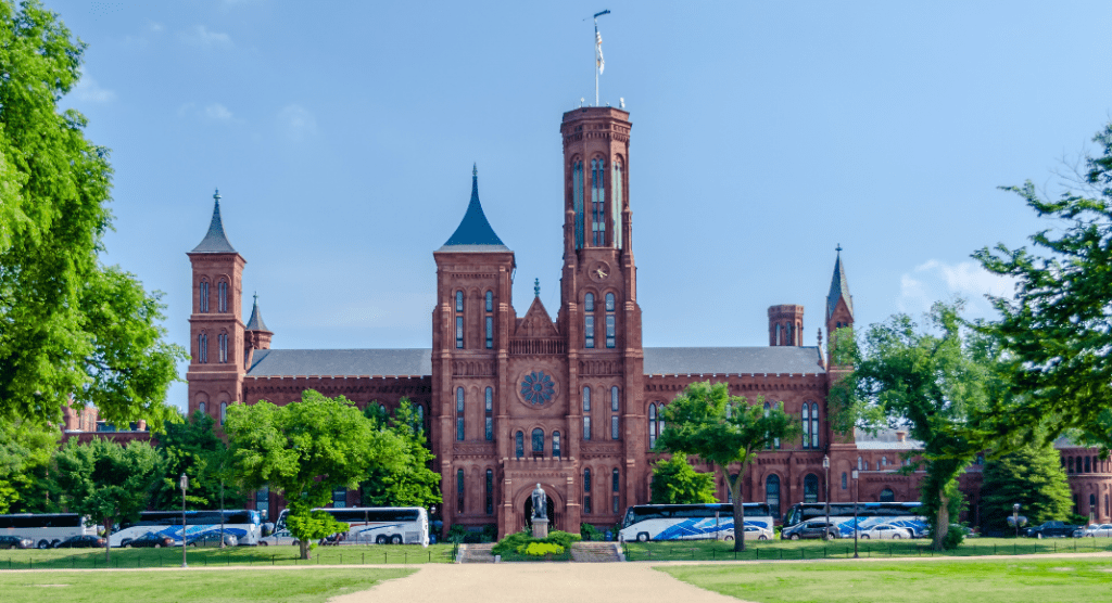 The Smithsonian Institution Building (a.k.a. The Castle) on D.C.'s Mall.